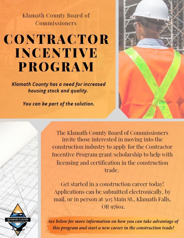 Contractor Incentive Program Flyer