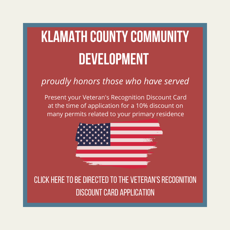 Klamath CDD Veteran's Discount Eligibility Opens in new window