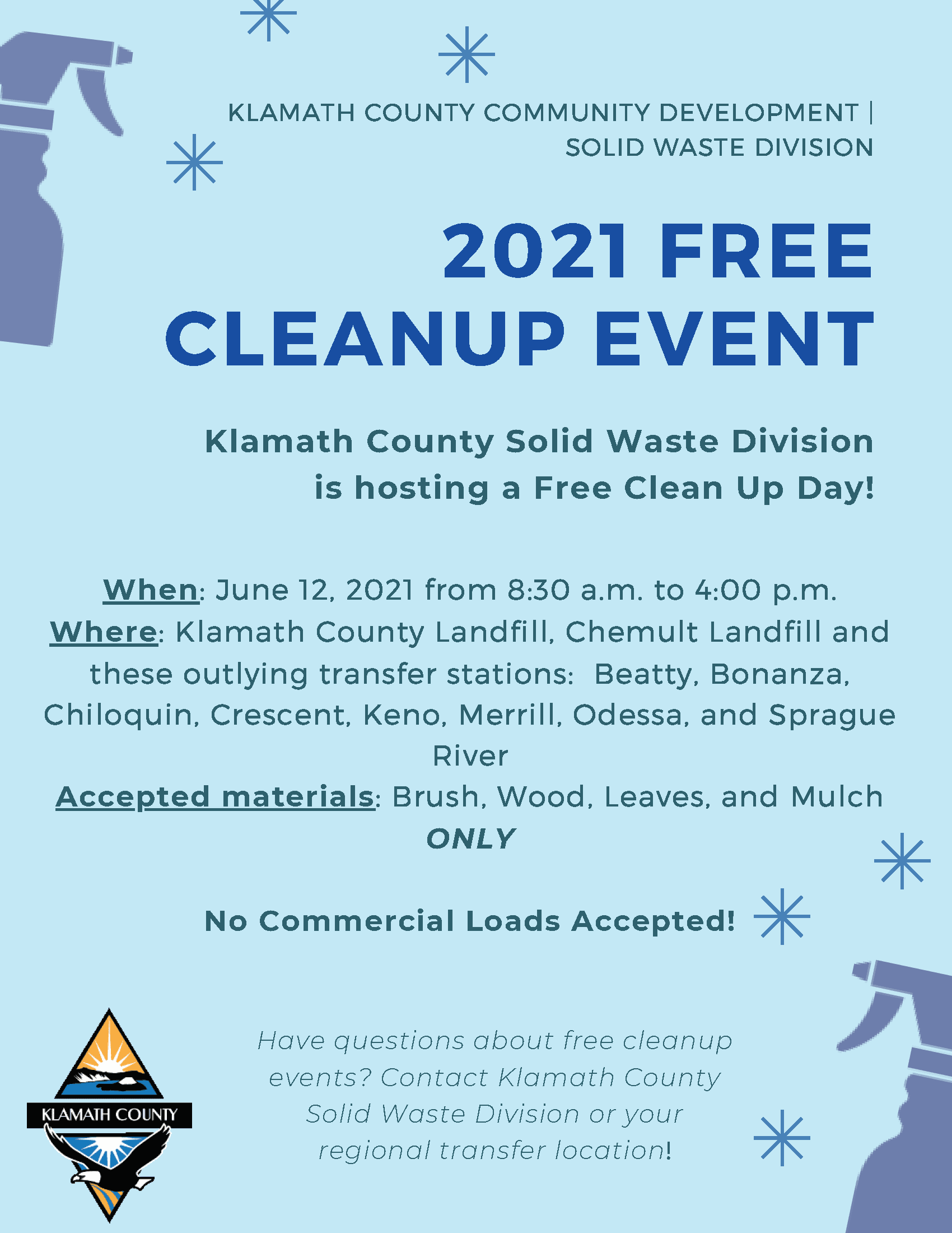 2020 FREE CLEANUP EVENTS Opens in new window