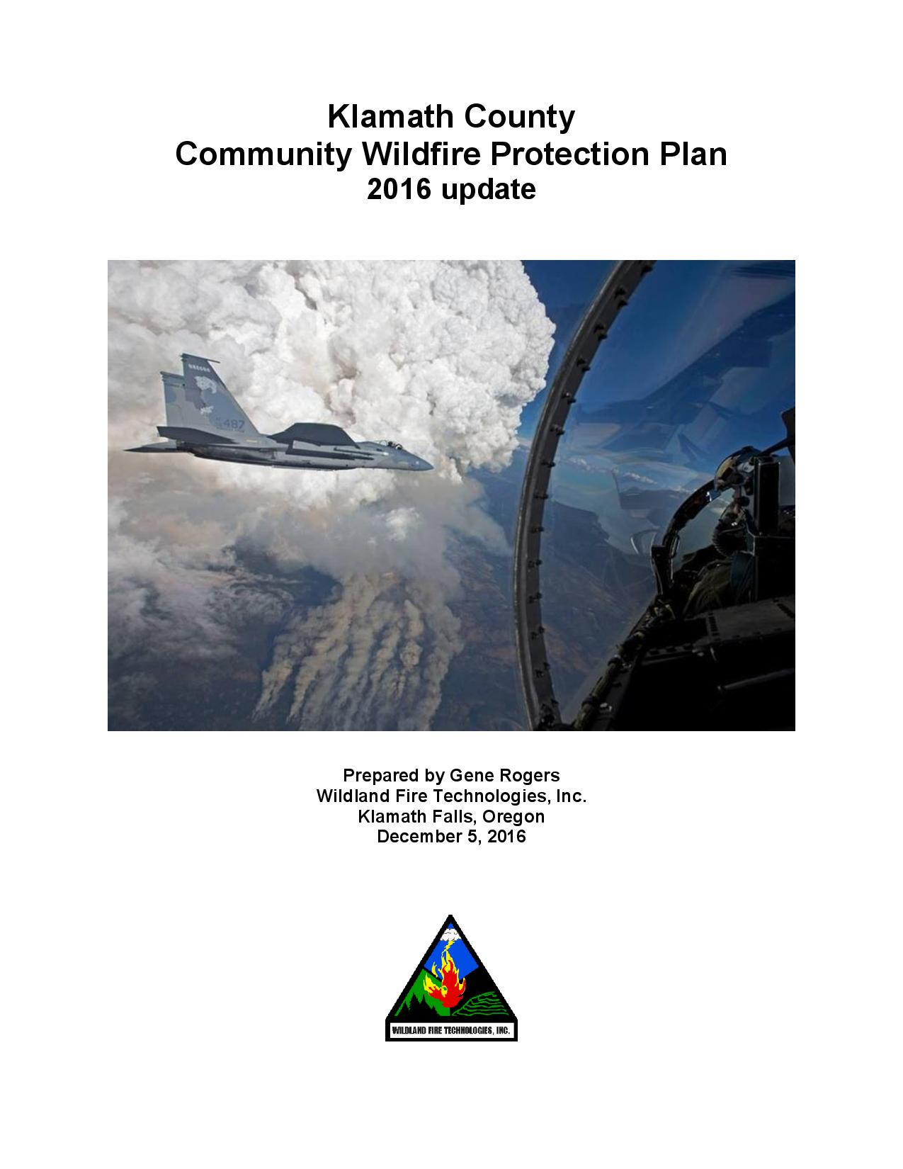 Community Wildfire Protection Plan Cover