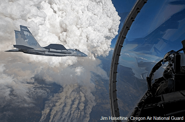 Air National Guard Pilots Fly Over Gulch Fire